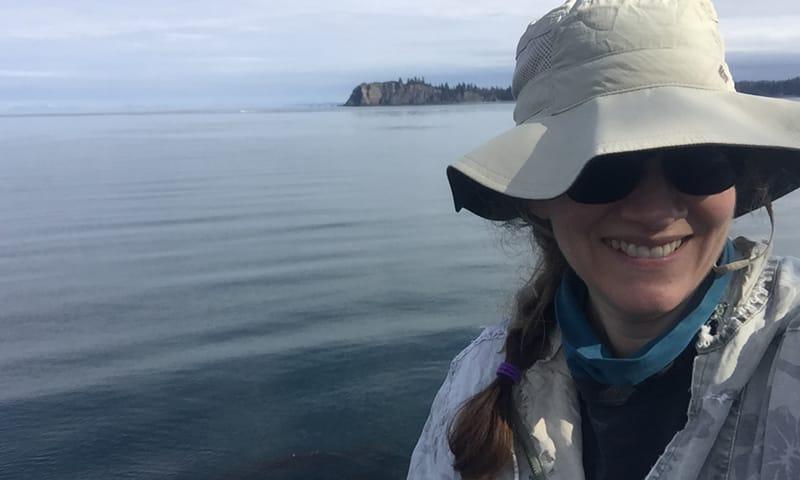 Jennifer L. Burnaford, associate professor of biology, researching in Alaskan.