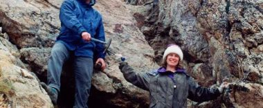 Christine and Michael Irwin at winter field camp in 1993.