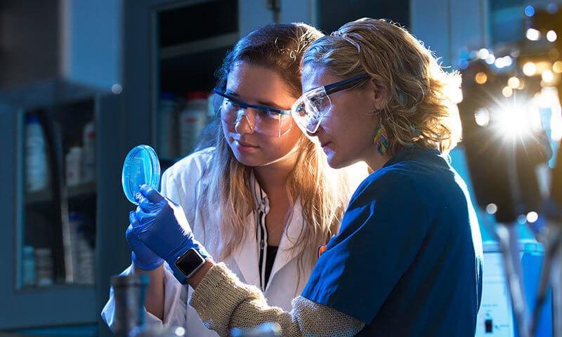 María Soledad Ramírez in her campus lab.