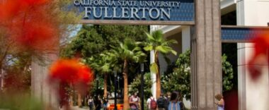 The entrance to California State Fullerton